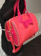 NWT Betsey Johnson Handbag Tough Love Pink Red Bow Bag Crossbody Purse Satchel