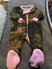 "Baby Girl ""Trail Crest� Brand Zipup Camo Footie Pj's Size 3-6m"
