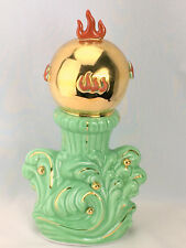 Vintage Kitschy Mid Century Asian Chinese Flaming Pearl Ceramic Decor Figurine