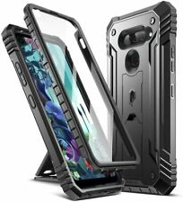 Poetic For LG Q70 Kickstand Case,Dual Layer Shockproof Protective Cover Black