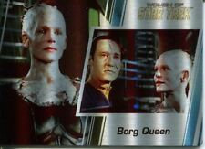 Star Trek Women Of 50th Metal Parallel Base Card #40 Borg Queen and Data