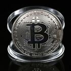 Silver Plated Bitcoin Novelty Coin