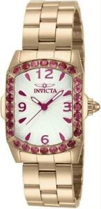 Invicta 14140 Lady Lupah Exotic Gemstone 28 Rubellite Swiss LE Rose Womens Watch