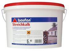 (2,79€/L) Baufan Streichkalk Kalkfarbe schimmelwidrig atmungsaktiv 5L