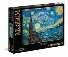 Clementoni- Van Gogh-Notte Stellata Museum Collection Puzzle, 500 pezzi, (B0q)