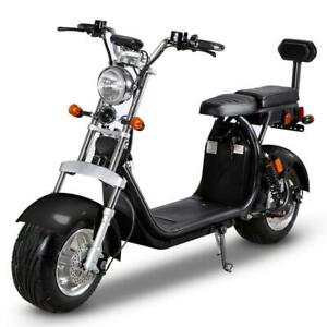 Scooter E-scooter with big wheels 1500W 80km 35km/h 2 seats New