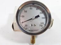 "Ashcroft 35-1009AW-02L Pressure Gauge 0-200 PSI 9/16"" NPT - NEW Surplus!"