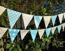 Handmade bunting - Aqua and gold - photography, wedding, baby, nursery
