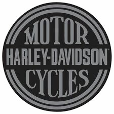 "Harley-Davidson Tin Sign Embossed ""Platinum Disc"" Garage 701"