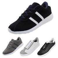 New Mens Trainers Gym Gents Laced Running Sports Suede Light weight Fitness Shoe