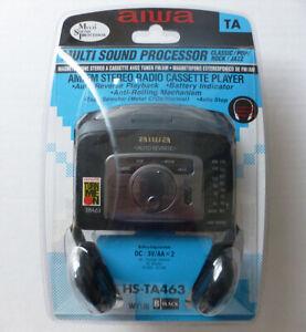 BRAND NEW vtg AIWA model HS-TA463 AM/FM stereo RADIO CASSETTE PLAYER walkman NR!