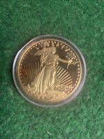 1907 St Gaudens Tribute Proof Coin RARE 24KT GOLD Plated Copy #JB1845
