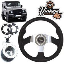 Land Rover Defender Silver Motorsport Steering Wheel 48 Spline Boss Kit 12v Horn