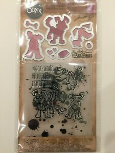 Sizzix Tim Holtz Die Embossing Folder & Clear Stamp Set NEW YOU PICK