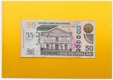 Surinam / Suriname 2012 50 Dollar UNC Limited Edition P167 55 year Central Bank