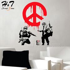 CND Soldier Paint Warn Firemen Street Art Vinyl Wall Sticker Decal Graffiti Boy