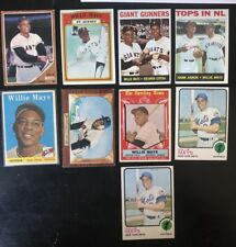 1960s & 1970s ~ WILLIE MAYS TOPPS BASEBALL CARD LOT OF 9 ~ GREAT LOT!