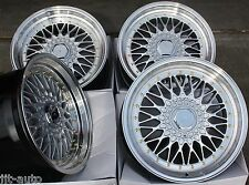 "17"" CRUIZE CLASSIC ALLOY WHEELS SILVER POLISHED DEEP DISH 4X100 17 INCH ALLOYS"
