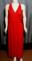 NEW Size XL Unbranded red crisscross back V-Neck stretchy maxi dress Info below