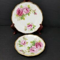 Set of 2 Royal Albert American Beauty Saucers Bone China Made In England