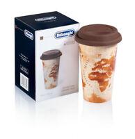DE LONGHI Tazza in Ceramica con Coperchio in Silicone per Latte Caffè Cappuccino