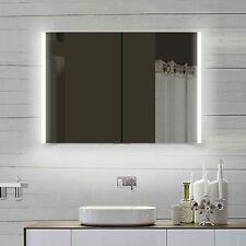 LED Alu Bad Badezimmer Spiegel Spiegelschrank Badmöbel Steckdose LLC100X70