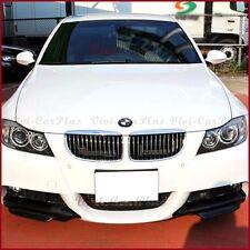 For 05-08 BMW E90 E91 3-Series M-Tech Carbon Fiber 2PCS Front Bumper Spoiler Lip