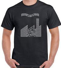 Joy Division Factory Records Mash Up Mens T-Shirt FAC51 Unknown Pleasures CD