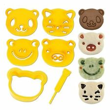 Cutezcute Animal Friends Food Mold Cutter & Stamp Kit Bento Cute Lunch Decorate