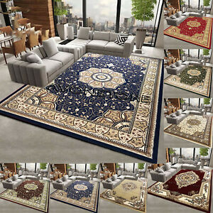 Elegant Non Slip Traditional Rug Thick Soft Wool Look Area Rugs Runners Carpets