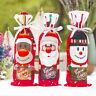AM_ SANTA CLAUS SNOWMAN CHRISTMAS WINE BOTTLE COVER BAG DINNER TABLE DECOR FUNNY