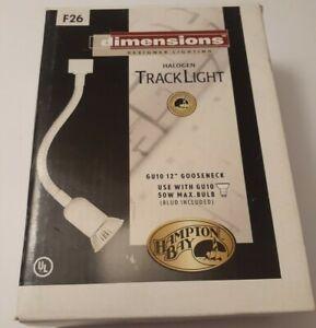 Hampton Bay Halogen Track Light White Finish 12in Gooseneck Bulb Fixture