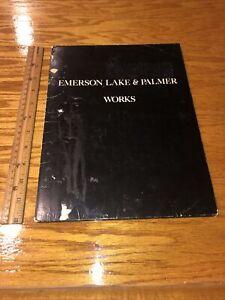 "Emerson Lake & Palmer 1977 ""Works"" Tour  Media Profile Book **RARE**"