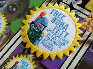 """Kenner STAR WARS """"FREE! Boba Fett"""" Vintage style 3.5"""" Iron-on embroidered patch"""