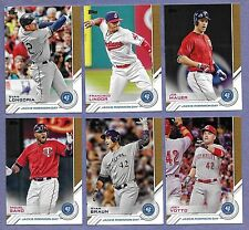 2017 Topps Series 1 Jackie Robinson Day 6 Different cards in Near Mint Condition