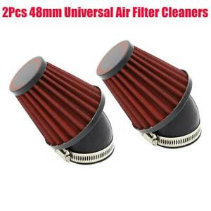 2X Universal Motorcycle Racer Inlet Cold Air Intake Tapered Air Filter Cleaners