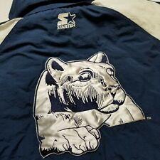 Vtg Starter Penn State Mens Coat XL Hooded Jacket Blue Heavy Insulated Lion 90s
