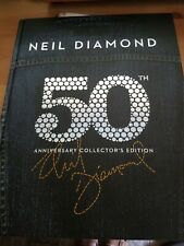 NEIL DIAMOND - 50TH ANNIVERSARY COLLECTOR'S HARD COVER BOOK 6CD EDITION Like New