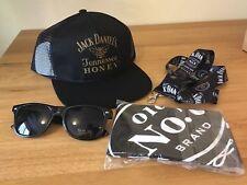 Jack Daniels Tennessee Honey Baseball Cap JD Bandana, Lanyard &  Fire Sunglasses