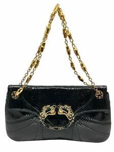 Gucci Limited Edition Tom Ford Snakeskin Jeweled Dragon Bag