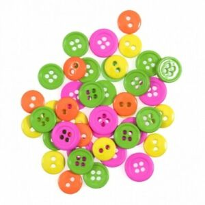 Impex Round Button Packs - Neon