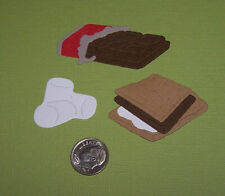 6 Pieces / Smores Set Premade PAPER Die Cuts / Scrapbook & Card Making
