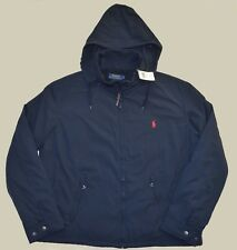 $198 New XXL 2XL Mens Polo Ralph Lauren hooded winter jacket coat navy blue 2X