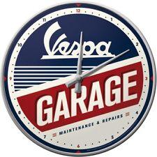 VESPA Garage - Wanduhr - 31 cm Durchm. mit Metallgeh.