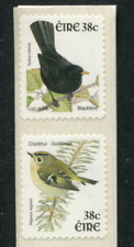IRELAND birds 2  self adhesive coil 38c Postage Rate Blackbird & Goldcrest EIRE