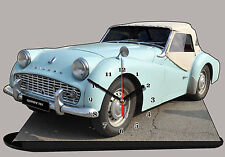 MODEL CARS, TRIUMPH TR3-01, car passenger, 11,8x 7,8 inches  with Clock