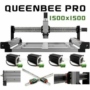 1500×1500mm QueenBee PRO CNC Router Machine 4 Axis Mechanical Kit