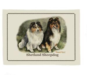 Waggy Dogz cd44 Shetland Sheepdog/Sheltie Dog Breed  Cotton Tea Towel 67cmx47cm
