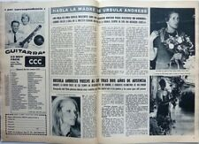 URSULA ANDRESS mother => 2 pages 1973 SPANISH CLIPPING / COUPURE DE PRESSE