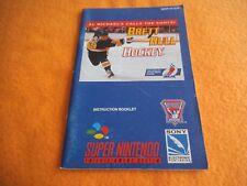 Brett Hull Hockey Anleitung Super Nintendo SNES Beschreibung Manual